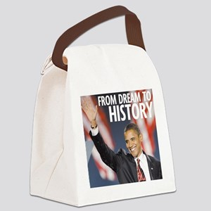 From Dream to History Canvas Lunch Bag