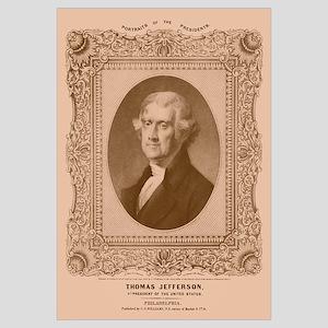 Digitally restored artwork of President Thomas Jef