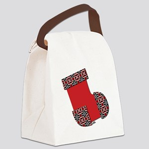 Xmas Stocking Red Canvas Lunch Bag