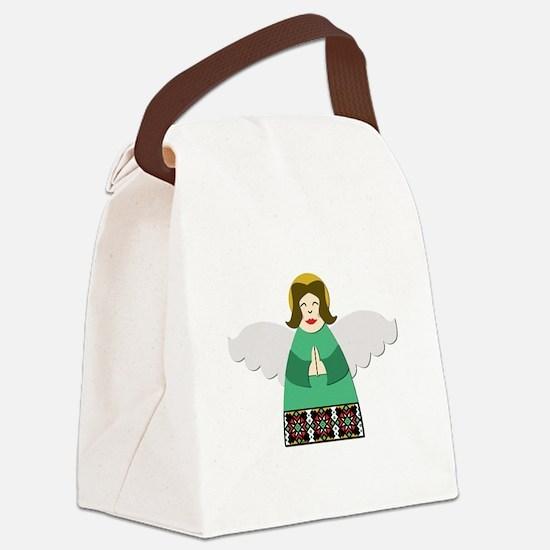 Ukrainian Angel Green Canvas Lunch Bag