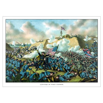 Digitally restored Civil War print depicting the U Poster