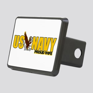 Proud Navy Wife Rectangular Hitch Cover