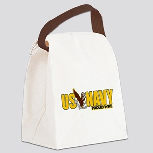 Proud Navy Wife Canvas Lunch Bag