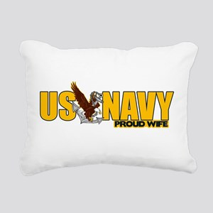 Proud Navy Wife Rectangular Canvas Pillow