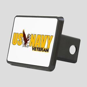 Proud Navy Veteran Rectangular Hitch Cover