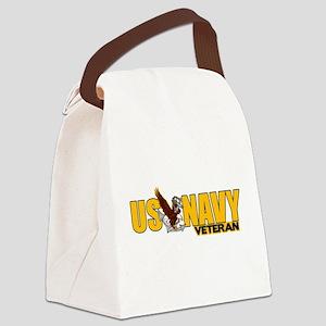 Proud Navy Veteran Canvas Lunch Bag