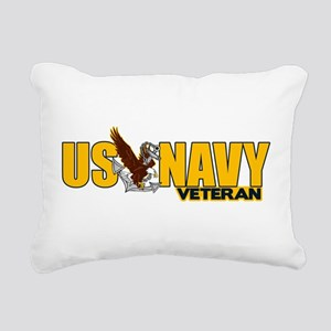 Proud Navy Veteran Rectangular Canvas Pillow