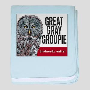 Great Gray Groupie baby blanket