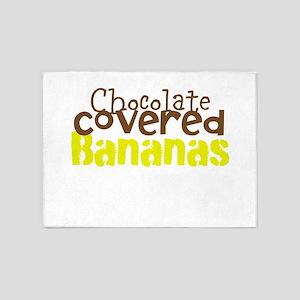 Chocolate Covered bananas 5'x7'Area Rug