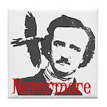 Poe The Raven Nevermore Tile Coaster