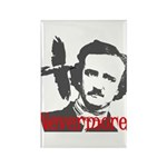 Poe The Raven Nevermore Rectangle Magnet