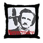 Poe The Raven Nevermore Throw Pillow