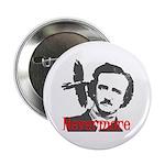 Poe The Raven Nevermore Button