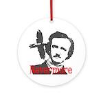 Poe The Raven Nevermore Ornament (Round)