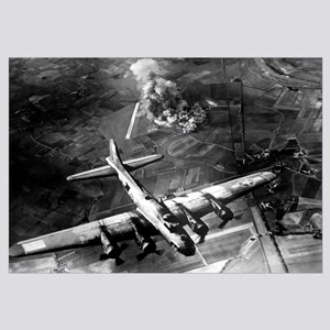 Digitally restored vector photo of a B-17 Flying F