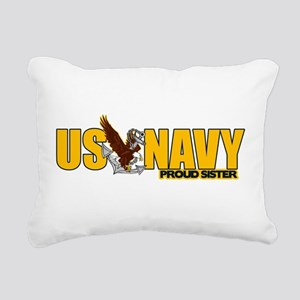 Proud Navy Sister Rectangular Canvas Pillow