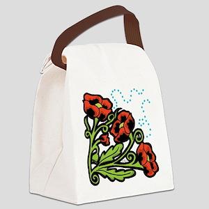 Ukrainian Poppies Canvas Lunch Bag
