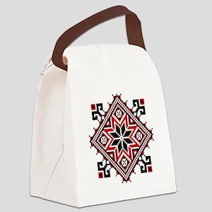 Folk Design 7 Canvas Lunch Bag