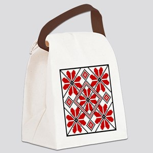Folk Design 6 Canvas Lunch Bag