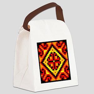 Folk Design 5 Canvas Lunch Bag