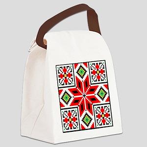 Folk Design 3 Canvas Lunch Bag