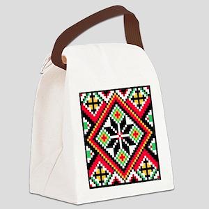 Folk Design 1 Canvas Lunch Bag