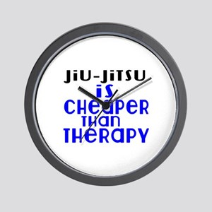 Jiu-Jitsu Is Cheaper Than Therapy Wall Clock