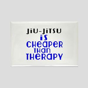 Jiu-Jitsu Is Cheaper Than Therapy Rectangle Magnet