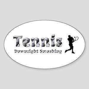 Tennis Slogan Sticker (Oval 10 pk)