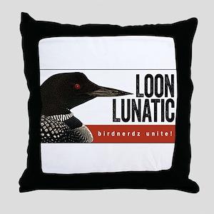 Loon Lunatic Throw Pillow