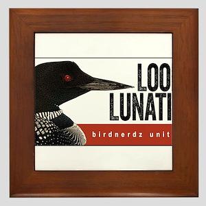 Loon Lunatic Framed Tile