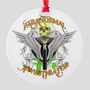 Paranormal Investigator Round Ornament