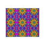 Pink Retro Pattern Throw Blanket
