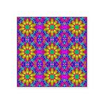 Pink Retro Pattern Square Sticker 3