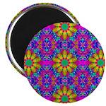 Pink Retro Pattern Magnet