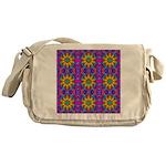 Pink Retro Pattern Messenger Bag