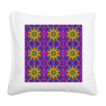 Pink Retro Pattern Square Canvas Pillow