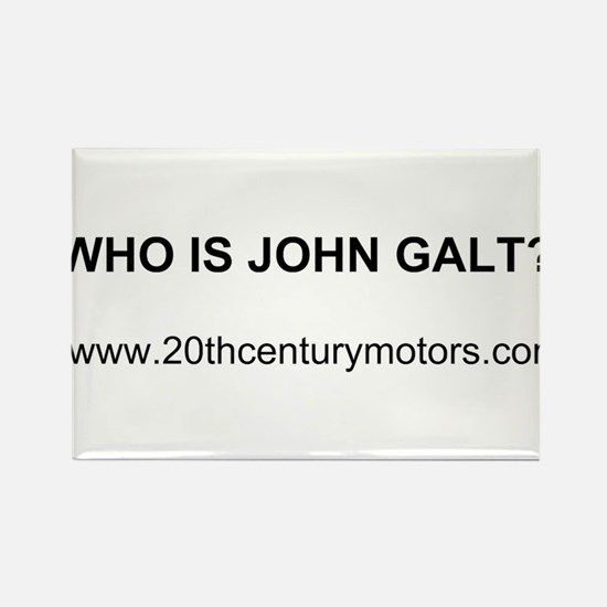 Who Is John Galt with link Rectangle Magnet
