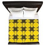 Yellow and Black Tribal Pattern King Duvet