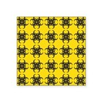 Yellow and Black Tribal Pattern Square Sticker 3