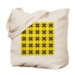 Yellow and Black Tribal Pattern Tote Bag