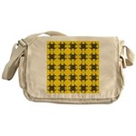 Yellow and Black Tribal Pattern Messenger Bag