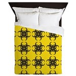 Yellow and Black Tribal Pattern Queen Duvet