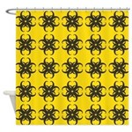 Yellow and Black Tribal Pattern Shower Curtain
