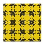 Yellow and Black Tribal Pattern Tile Coaster