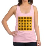 Yellow and Black Tribal Pattern Racerback Tank Top