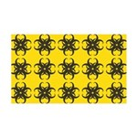 Yellow and Black Tribal Pattern 35x21 Wall Decal