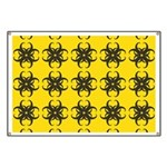 Yellow and Black Tribal Pattern Banner