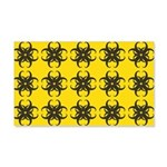 Yellow and Black Tribal Pattern 20x12 Wall Decal