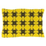 Yellow and Black Tribal Pattern Pillow Case